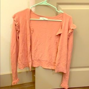 Pink Zara Ruffle Cardigan